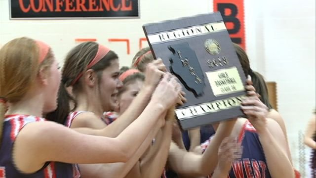 Illini West celebrates following its second consecutive regional championship victory over Havana on Thursday night.