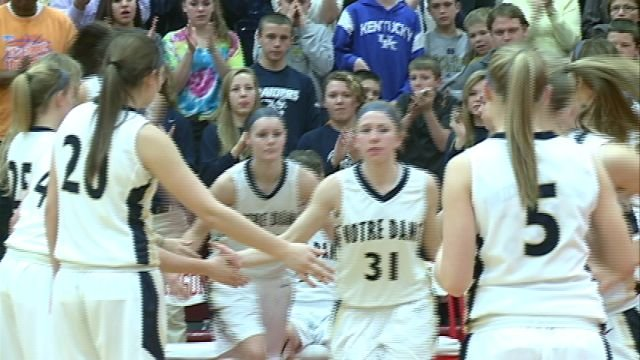 The QND Lady Raiders stormed to a 26 point victory over Springfield Southeast in Thursday nights regional championship.
