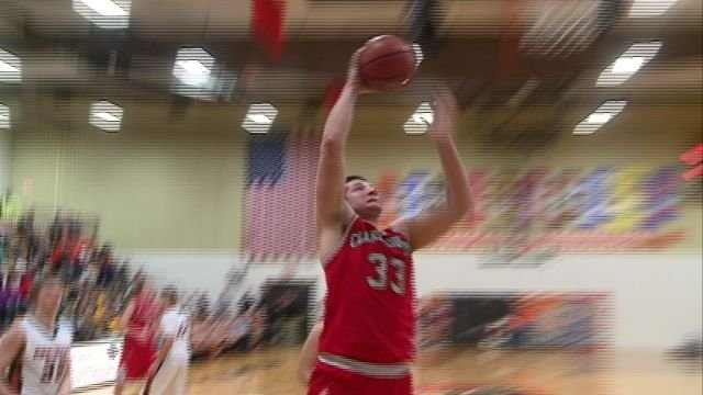 Kyle Kovar had 21 points to help lift Clark County to a 64-57 district semifinal upset over top seeded Palmyra.