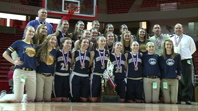 The QND Lady Raiders took home their third consecutive state title on Saturday.