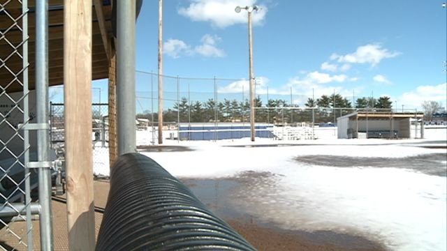 It could take up to a week before the QHS softball field is near realistic playing conditions.