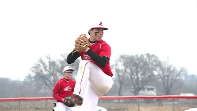 Liberty's Lane Hanzel struck out 13 batters in the Eagles game one victory over Central on Saturday.