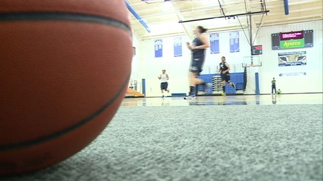 The semi-pro women's basketball team St. Louis Surge held an open practice at Culver-Stockton on Sunday.