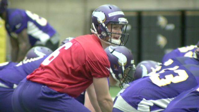 Former Keokuk Chiefs and Iowa Hawkeyes quarterback kicked off mini-camp with the Minnesota Vikings on Friday.