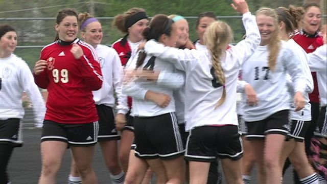 The Hannibal Lady Pirates beat Moberly in PK's on Saturday to finish undefeated in NCMC play.
