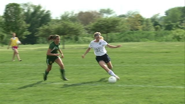 Cassidy Foley scored a pair of goals in QND's 3-0 sectional championship win over St. Thomas More on Friday.