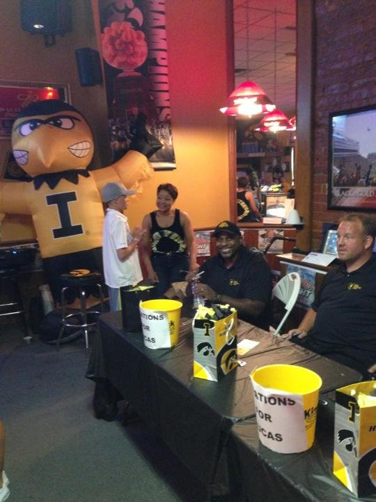Nearly $10,000 was raised for the Montgomery family on Saturday at Kinnick South in Ft. Madison.
