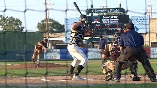 The Hannibal Cavemen and U.S. Military All-Stars took the field in America's Hometown on Sunday night.