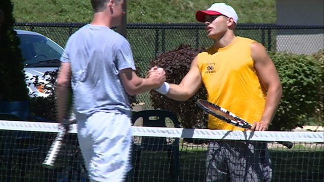 Ian Hinkamper defeated Ryan Schnack in straight sets on Sunday to win his fourth straight QTA City Championship.