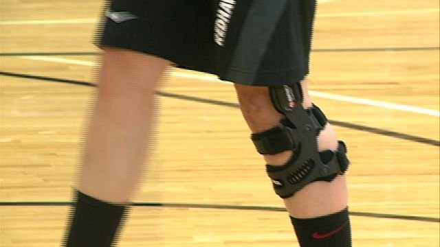 Former Highland all-state guard Ashton Luttrull continues to rehab a torn ACL that caused her to miss the 2012 season.