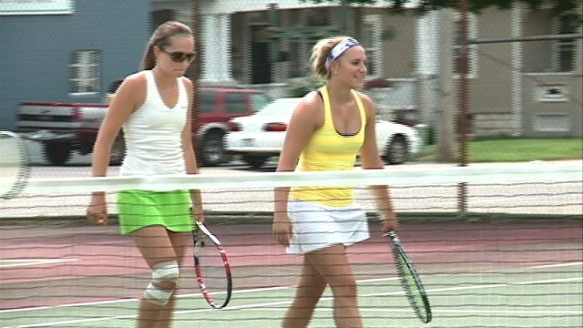 Ashley Hinkamper and Kadi Fauble won the QTA Doubles Championship in straight sets on Sunday at Reservoir Park in Quincy.