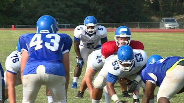 Culver-Stockton held it's annual Blue/White scrimmage on Saturday at Ellison Poulton Stadium in Canton.