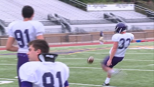 Camp Point Central alum Nathan Knuffman has been named the top kicker heading into the Leathernecks season opener on Thursday.