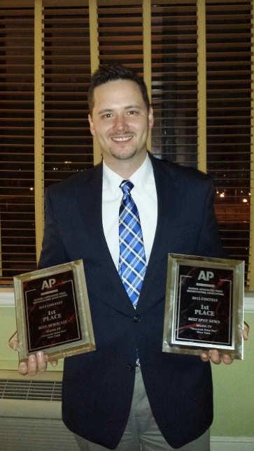 WGEM News Assignment Editor Travis Sloan at the AP Awards dinner.