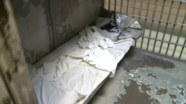 A look inside one of the cells at the Adams County jail