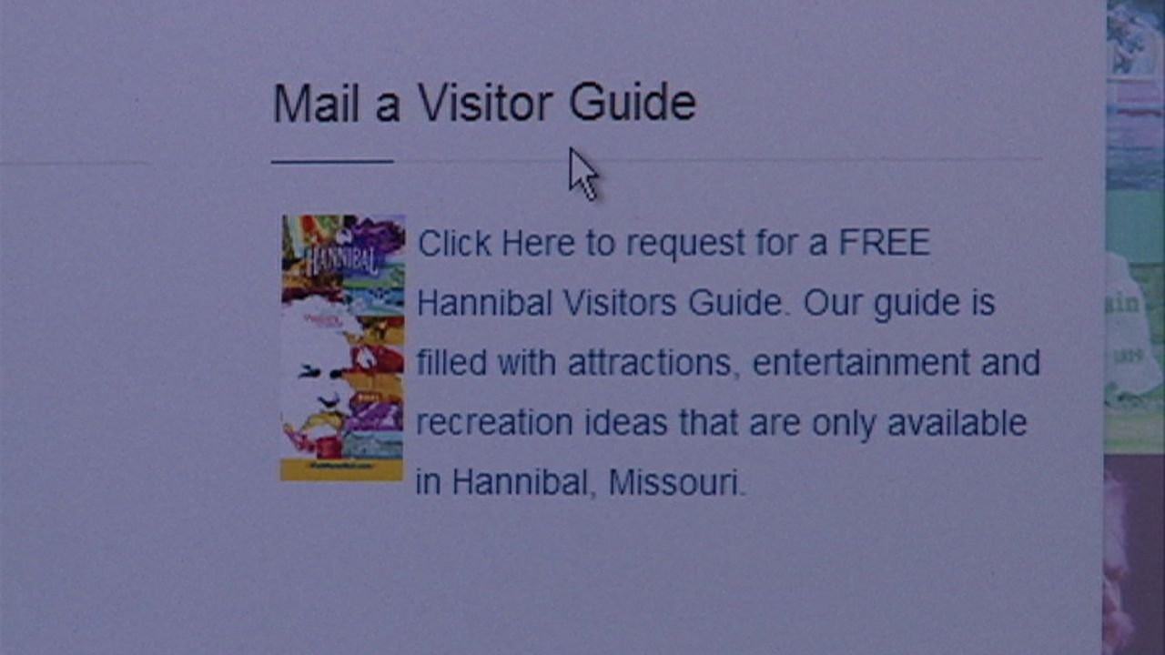 The Hannibal Visitors and Convention Bureau website