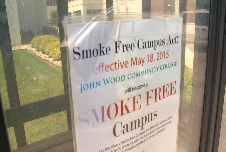 Notices have gone up around campus about smoking.