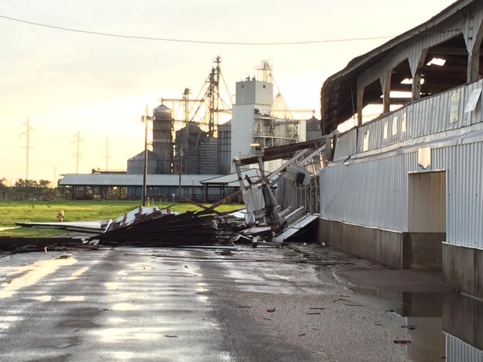 Damage at the Western Illinois Fairgrounds. Photo courtesy of Brian Shoemaker