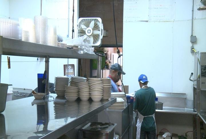 Mi Jalapeno workers prep to reopen after the power returns.