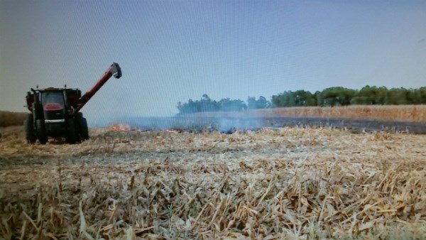 Fire crews responded to a field fire north of Quincy.