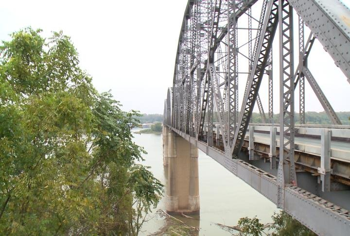 The Champ Clarke Bridge in Louisiana, Missouri, is 87 years old, structurally deficient and underwent repairs in October after an August inspection revealed 1,500 rusted rivets needed to be replaced.