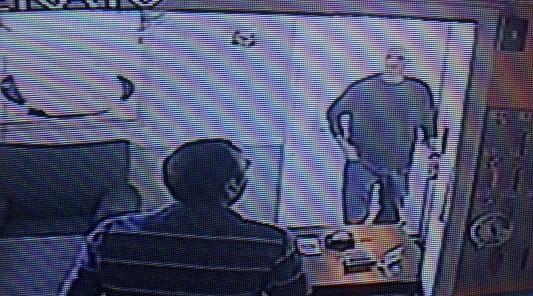Surveillance video from the motel shows Brokes walking in, the motel manager says.