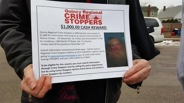 Patrick Forbes three sisters are posting these signs throughout the city looking for more information on their brothers death.