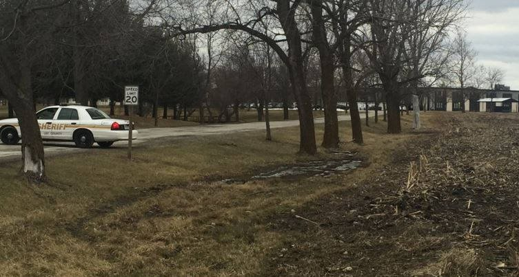 Authorities search Midwest Academy Friday as part of a sexual abuse investigation.