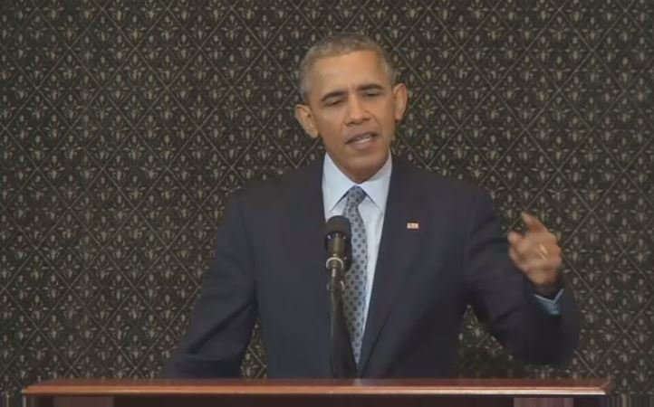 President Obama speaks to the Illinois General Assembly Wednesday.