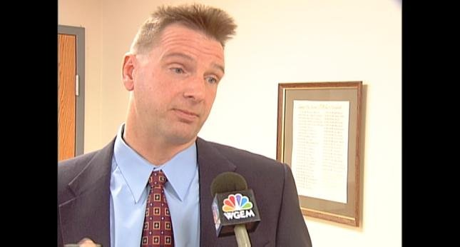 Curtis Lovelace speaks to WGEM News in a previous news story before his arrest.