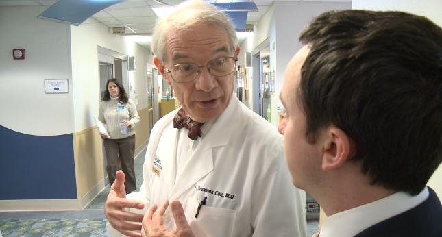 A neonatologist speaks with WGEM's Jeremy Culver at St. Louis Children's Hospital.