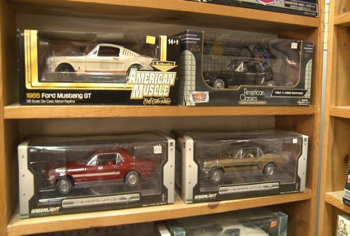 Some of the featured cars at the Mark Twain Toy Show in Quincy