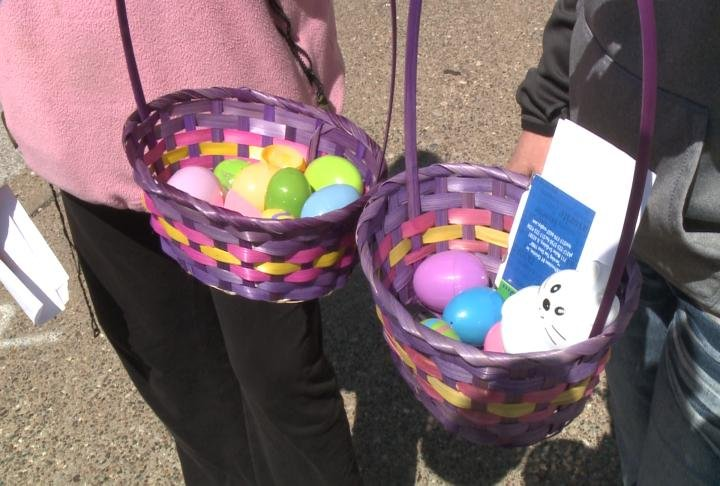Adults Hunt For Easter Eggs In Downtown Quincy