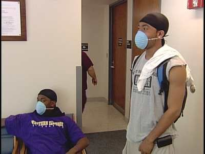 A Sign On A Door At Western Illinois University Warns Students To Be Wary  Of Flu Like Symptoms. WIU Confirmed A Case Of Swine Flu Virus On Campus  Monday. Part 29