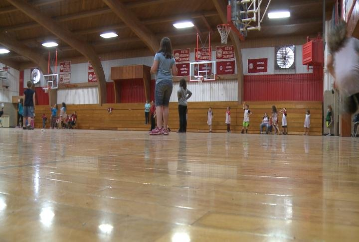 Local athletes chip in to make sure gym is ready for for Building a basketball gym