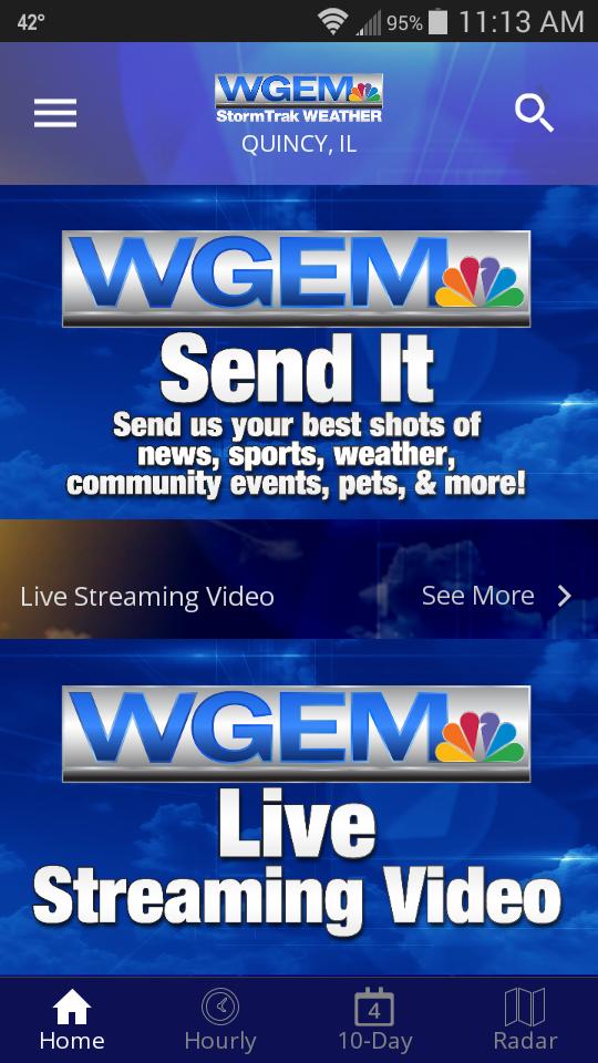 WGEM StormTrak Weather App WGEMcom Quincy News Weather
