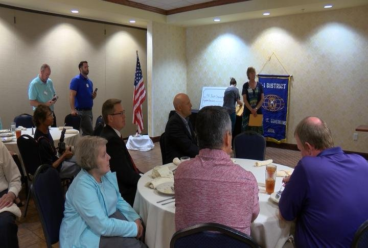 Organizations attended the lunch to receive their grants.