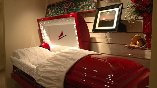 are you a  u0026quot diehard u0026quot  cardinals fan  you can buy the casket to pro