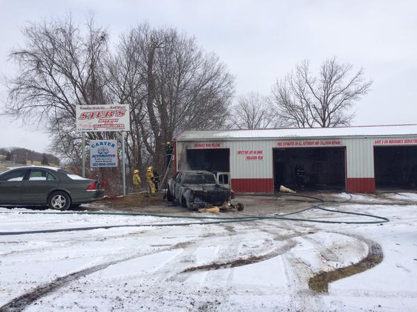 Truck Catches Fire And Damages La Grange Body Shop Kttc