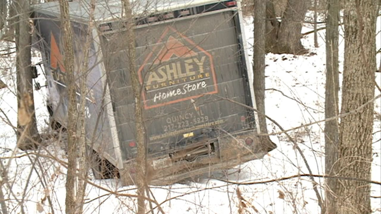 Furniture Truck Crashes Off Highway 6 Quincy