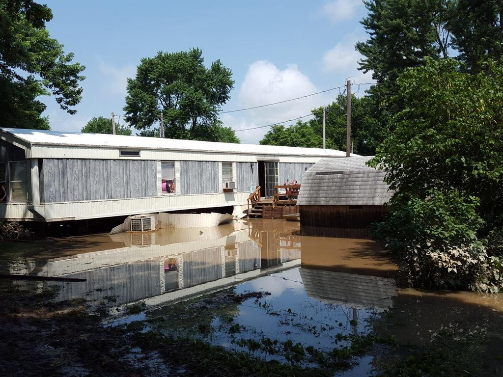 Taylor Missouri Residents Clean Up After Flooding Goes