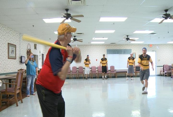 cavemen play ball for a good cause  wxow news 19 la  ~ Wand Tv Weather School Closings