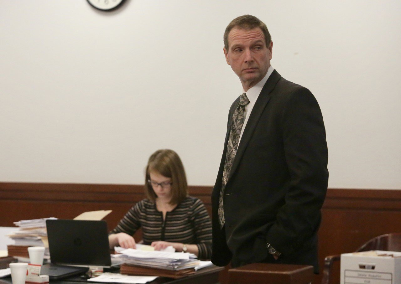 Curtis Lovelace during his second trial in March.