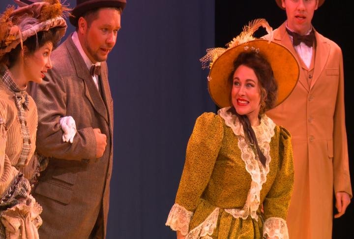 Quincy Commuity Theater actors perform in Hello Dolly.