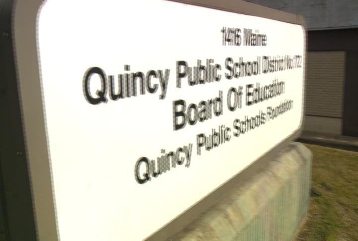 The sign outside the Quincy Public School district. The district and the employees' union are going to resume contract negotiations.