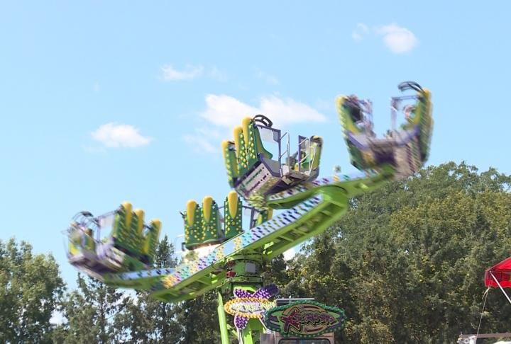 Guest enjoying carnival ride