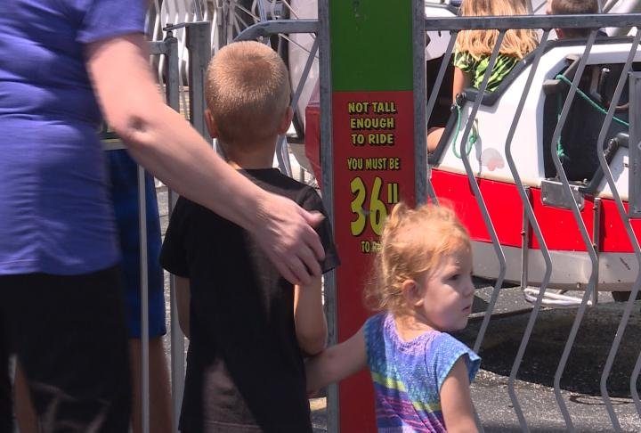 Kids waiting in line for ride