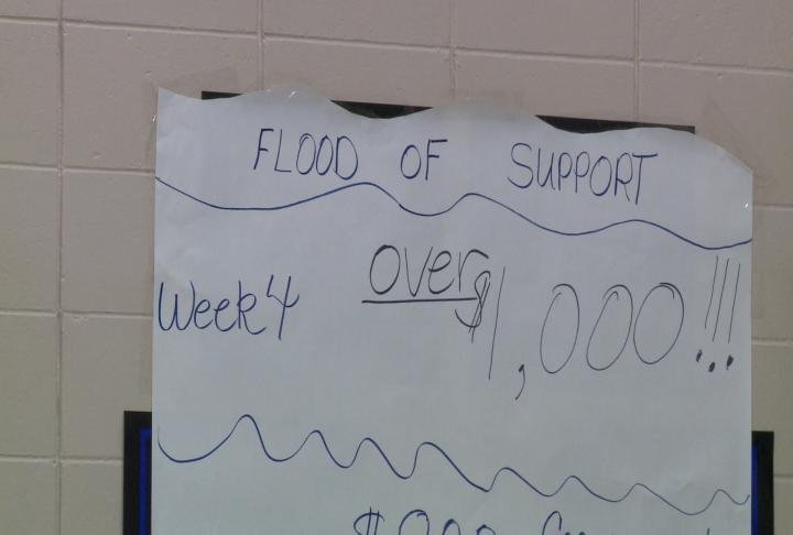 With the help of the school and parents the school raised over $1,000.