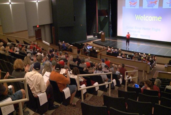 Families gathered at the Roland Arts Center on HLGU.