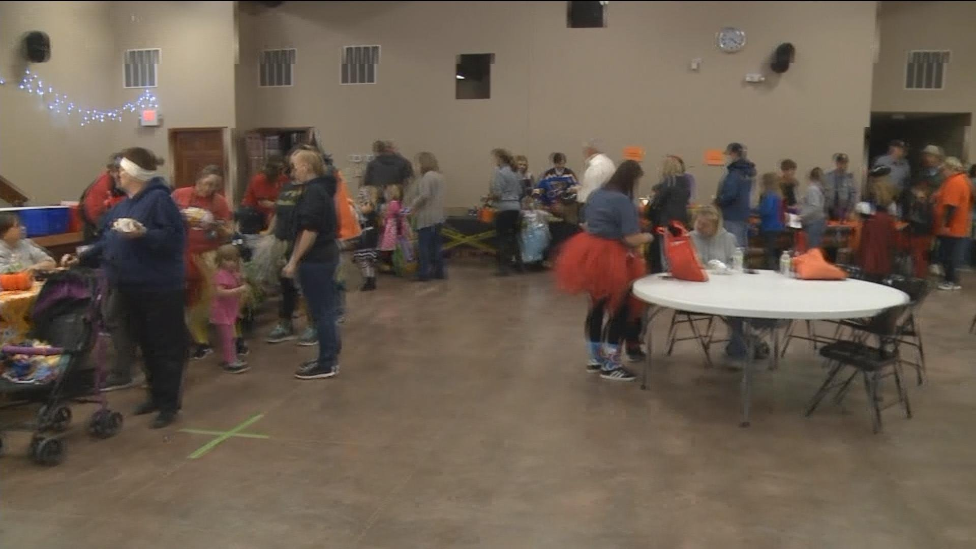 """A """"Safe Stop"""" Halloween event at the Knox County Community Center."""